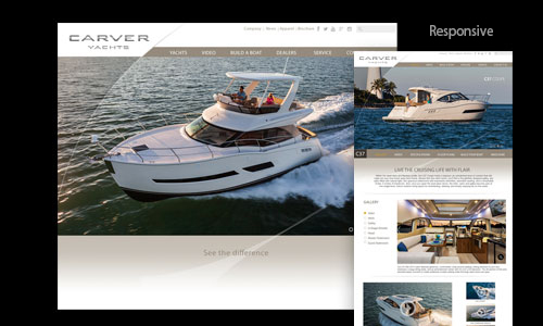 Carver Yachts marine market website solution
