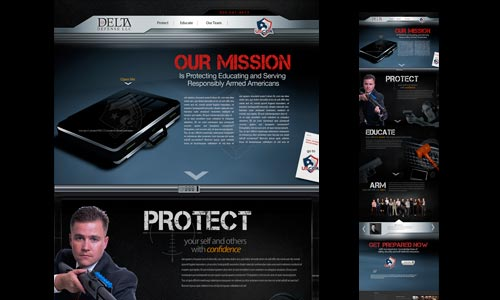 Personal protection website responsive design