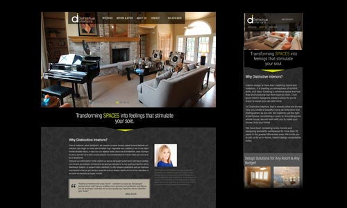 Responsive website design for interior designer market