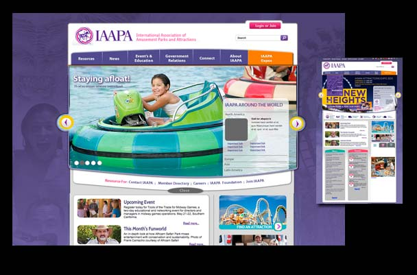 Association website solution for amusement market place