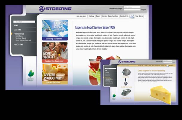 Stolting food industry equipment website design