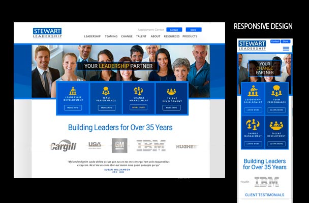 Stewart Leadership website solution