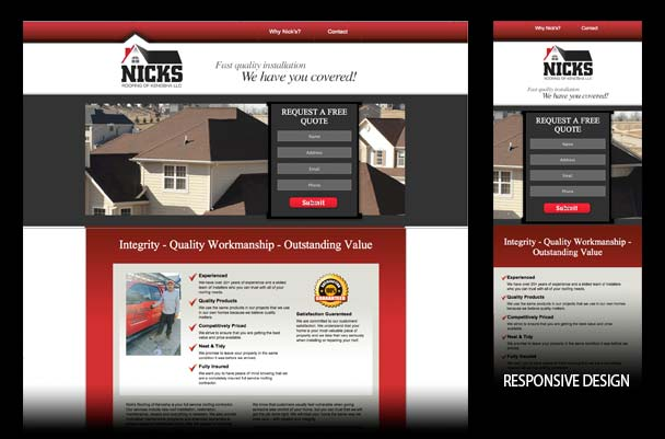 Responsive website solutions for roofing business