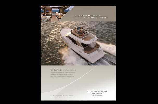 Print advertisement for Carver Yachts