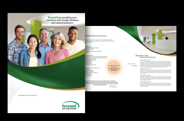 Brochure for tax preparation business