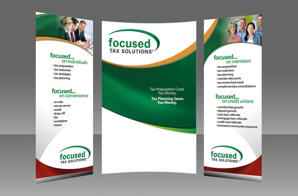 Large trade show display signage
