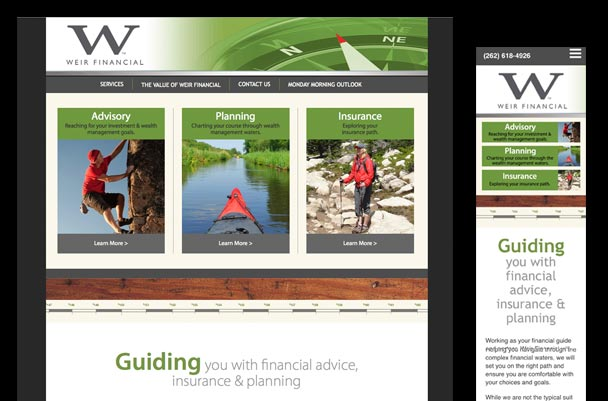 website for financial, insurance and investment company