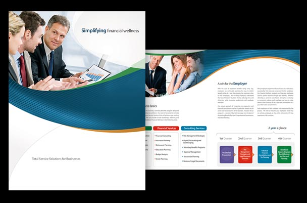 4-page brochure for tax and investment planning business