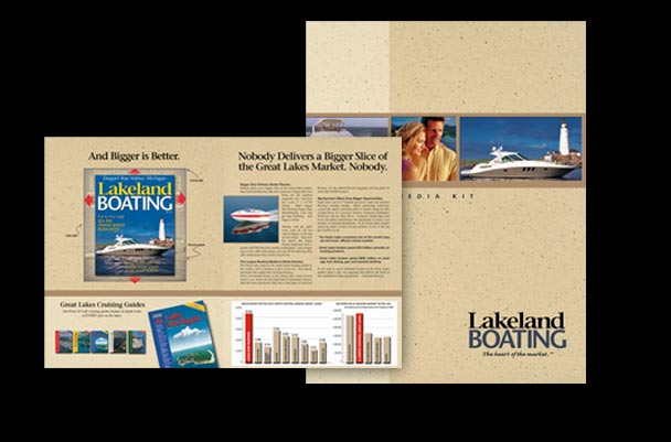 4-page brochure for Lakeland Boating magazine