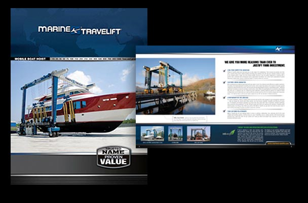 12 page brochure for gantry crane industry