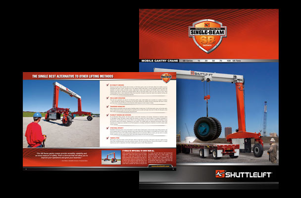Brochure creative for heavy equipment market
